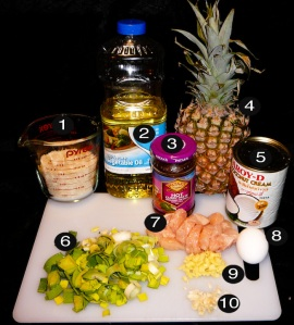 pineapple-rice-prep