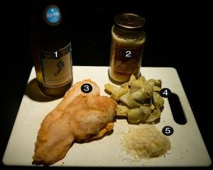 artichoke chicken prep