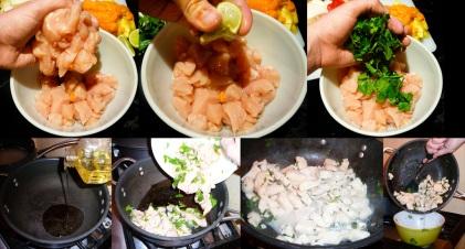 mango chicken curry marinate brown