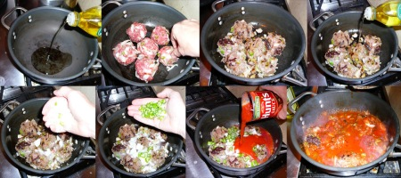 Spaghetti meatball balls sauce