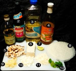 tofu springrolls prep