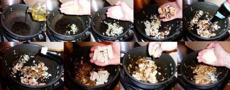 tofu springrolls stirfry