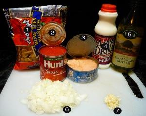 tuna bowtie pasta prep