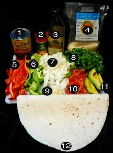 dank organic veggie burritos prep