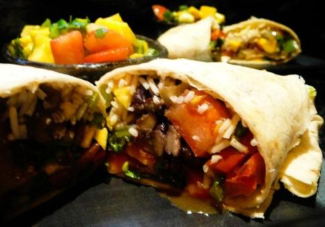 dank organic veggie burritos served 2