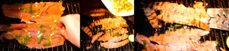 maple salmon grill