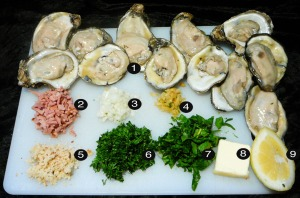 oysters bang-a-feller prep