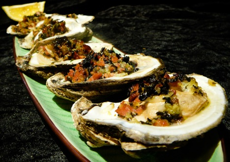 Act like a Rockefeller with Oysters Bang-a-Feller.