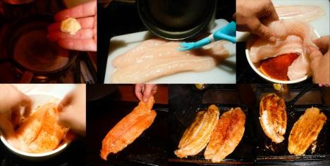 blackened catfish brush marinate grill