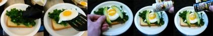 boiled kale breakfast assemble
