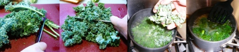 boiled kale breakfast chop boil