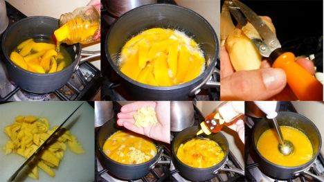 mango ginger pornsicles cook chop puree