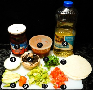 potobello tacos prep