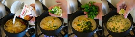 random thai soup coconut herbs lime