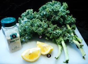 steamed sesame kale prep