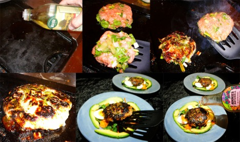 Turkey Burger Salad grill