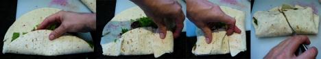 veggie burger wrap tortilla