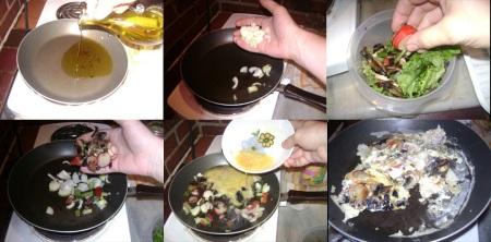breakfast salad sinwich scramble