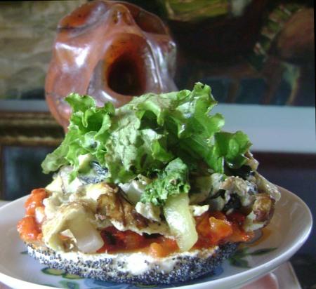 breakfast salad sinwich served 2