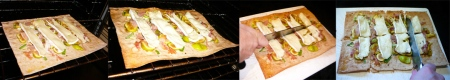 fig brie prosciutto pizza bake