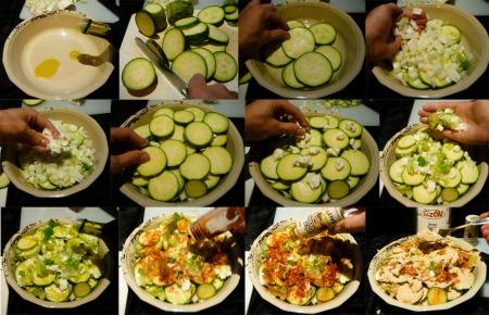 squash casserole assemble