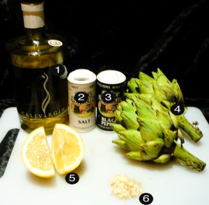 roast artichoke prep