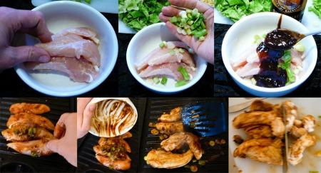 bbq pineapple chicken salad marinate grill