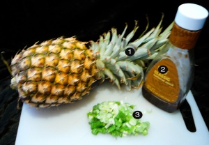 bbq pineapple split prep