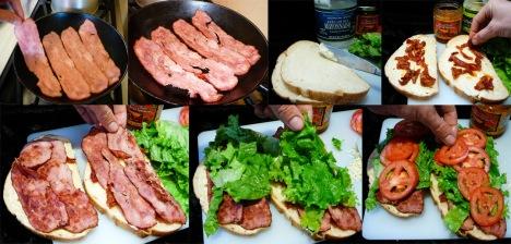 blt melt bacon assemble