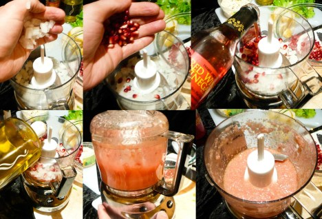 pomegranate feta pear salad dressing