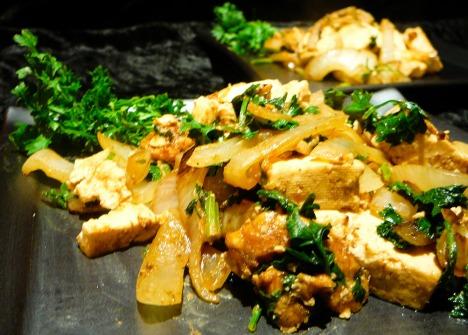 tofu peanut stirfry served 2