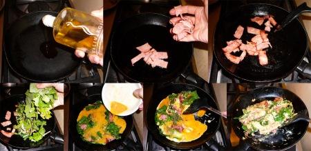 chard eggs scramble