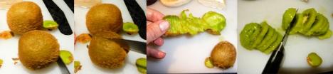 kiwi melt peel cut