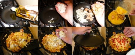 pomegranate scramble saute scramble