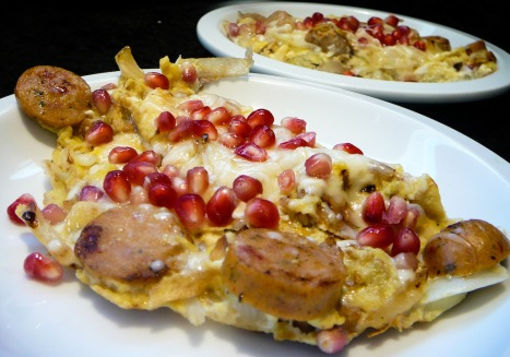 pomegranate scramble served 2