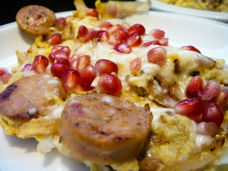 pomegranate scramble served