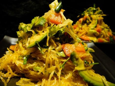 spaghetti squash salad served 2