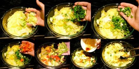 spaghetti squash salad toss