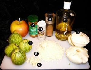 spicy squash casserole prep