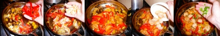 tangerine scallops bell wedges scallops