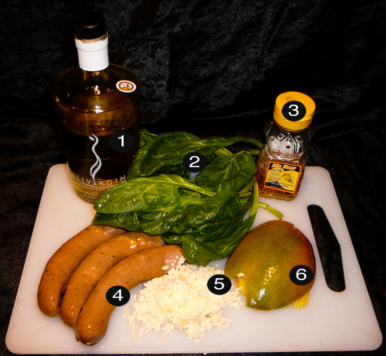 1 tbsp CALIVIRGIN olive oil 2. 9 large intact spinach leaves 3. 1 tbsp HONEY